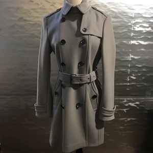 Burberry Belted Peacoat